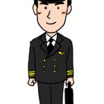 飛行機パイロット男性イラスト