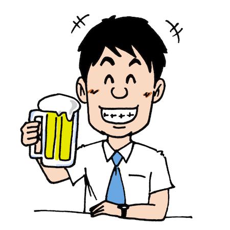 ビールを飲むサラリーマンイラスト