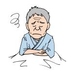 困った顔の入院患者高齢者イラスト