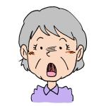 驚くおばあちゃん顔イラスト