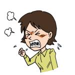 怒っている女性イラスト