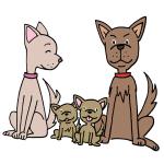 犬の親子イラスト