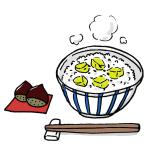 秋の栗ご飯イラスト