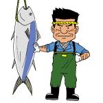 マグロ一本釣り漁師イラスト