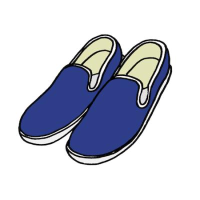 スリッポン靴スニーカーイラスト