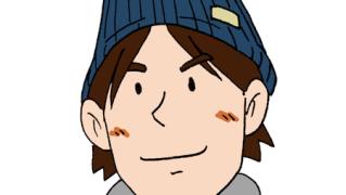ニット帽をかぶる若い男性イラスト