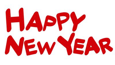 HAPPY NEW YEARハッピーニューイヤー赤文字