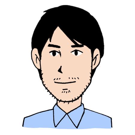 無精髭をはやしている男性イラスト