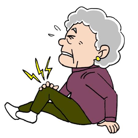 膝が痛いお年寄り高齢者の健康イラスト