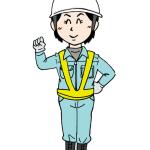 土木や建設現場で働く女性作業員イラスト