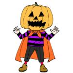 ハロウィン仮装衣装かぼちゃ子どもイラスト