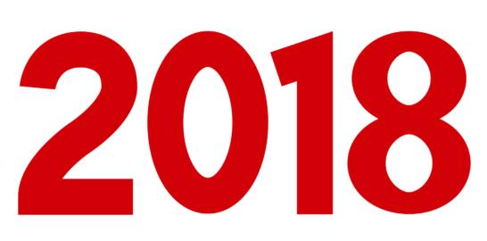 2018年文字イラスト素材