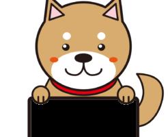 柴犬フォトフレーム年賀状素材戌年