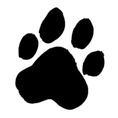 犬の肉球跡の墨イラスト戌年