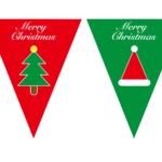 三角フラッグ・三角旗クリスマスパーティー素材