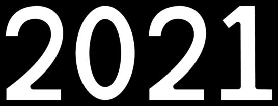 2021文字イラスト年賀状素材白黒