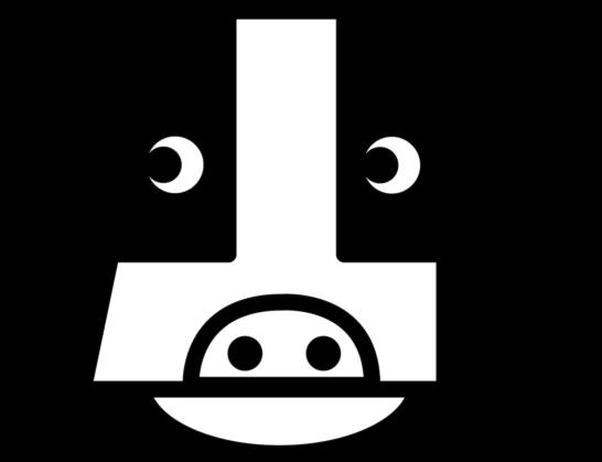 可愛い牛の顔イラスト年賀状素材【白黒】